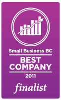 Small Business BC - Best Company 2011 Finalist