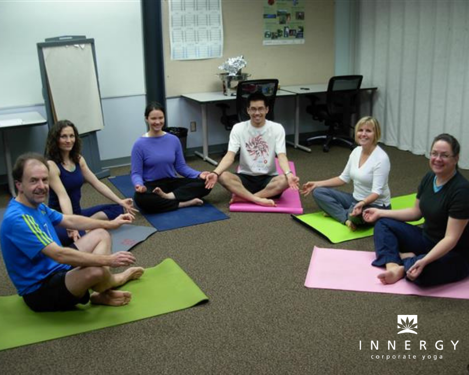 Corporate Yoga For Teams In Offices The Workplace Across Canada Usa Innergy Corporate Yoga